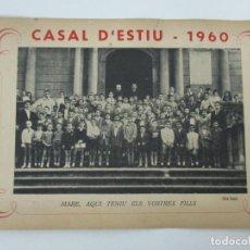 Fotografía antigua: FOTOGRAFÍA - EL CASAL D´ESTIU - RECORDATORI - OLOT 4 SETEMBRE 1960 - FOTO COMA. Lote 135747182