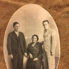 Fotografía antigua: ENCANTADORA FOTOGRAFIA ANTIGUA DE GRAN TAMAÑO. FAMILIA. MIDE APROX 45X29,5CMS. Lote 135827746