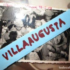 Fotografía antigua: FOTO ORIGINAL OFICIALES ALFEREZ MARQUES 4ª BANDERA 28-IX- 1938 GUERRA CIVIL LEGION. Lote 121279411