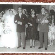 Photographie ancienne: COMANDANTE DE AVIACION EN BODA. Lote 137290906