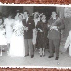 Photographie ancienne: COMANDANTE DE AVIACION EN BODA. Lote 137291210