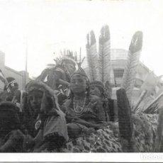 Old photograph - == B449 - FOTOGRAFIA - CARROZA DE CABALGATA DE MONCADA - 137297458