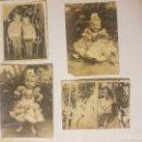 Fotografía antigua: LOTE DE 4 FOTOS FAMILIARES EN BLANCO Y NEGRO, AÑOS 50 ÑIÑA VESTIDA DE FLAMENCA.. Lote 137662818