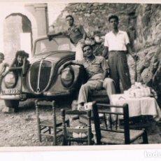 Fotografía antigua: GRUPO Y FIAT TOPOLINO MATRICULA V - 17722. Lote 137905482