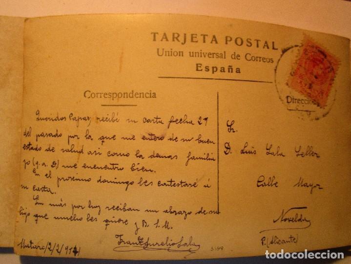 Fotografía antigua: FOTO POSTAL ESCRITA CAMPO FUTBOL DEL MATARO CON EQUIPO DE MUSICA ? ENVIADA A NOVELDA 1917 - Foto 2 - 138662302