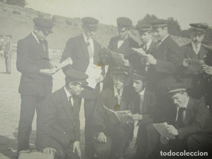 Fotografía antigua: FOTO POSTAL ESCRITA CAMPO FUTBOL DEL MATARO CON EQUIPO DE MUSICA ? ENVIADA A NOVELDA 1917 - Foto 4 - 138662302
