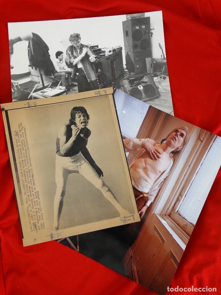 LOTE FOTOGRAFIAS: DAVID BOWIE, MICK JAGGER, ANDY WARHOL (Fotografía - Artística)