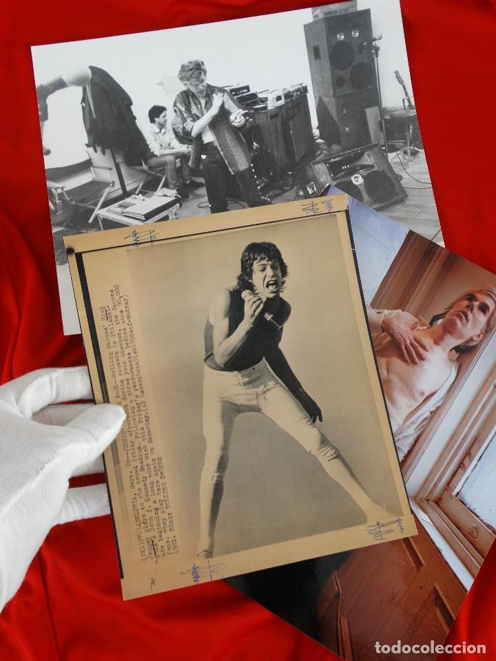 Fotografía antigua: LOTE FOTOGRAFIAS: DAVID BOWIE, MICK JAGGER, ANDY WARHOL - Foto 4 - 138941098