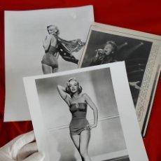 Fotografía antigua: LOTE DE FOTOGRAFIAS: MARILYN MONROE Y MICK JAGGER. Lote 138942002