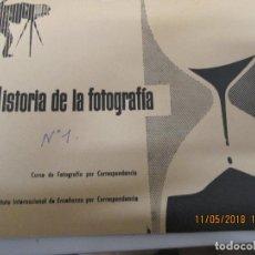 Fotografía antigua: FOTOGRAFIA HISTORIA CURSO AFHA 1 TOMO AÑO 1958 . Lote 139383270
