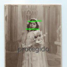 Fotografía antigua: RETRATO. NIÑA. PRIMERA COMUNIÓN. MAYO 1935. FOTO STUDIO RIPOLL. YECLA - VILLENA.. Lote 139458354
