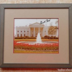 Fotografía antigua: PRESIDENT GERALD FORD AUTOGRAPH, SIGNED PHOTOGRAPH, FRAMED. Lote 139906970