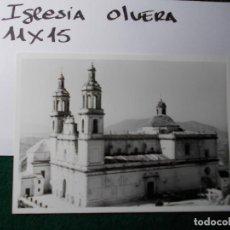 Fotografía antigua: FOTO ANTIGUA IGLESIA OLVERA. Lote 140850454