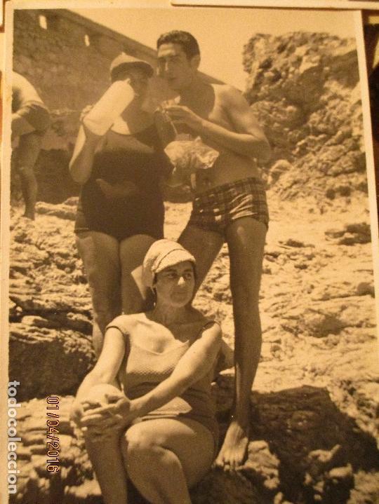 Fotografía antigua: CEUTA LOTE 8 CEUTIES FOTOS ANTIGUAS CHICOS EN PLAYA OFICIAL MILITAR - Foto 2 - 141478162