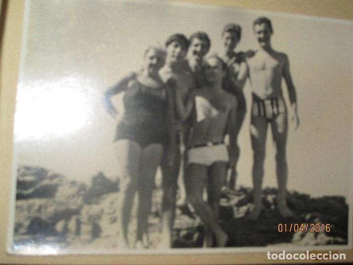 Fotografía antigua: CEUTA LOTE 8 CEUTIES FOTOS ANTIGUAS CHICOS EN PLAYA OFICIAL MILITAR - Foto 3 - 141478162