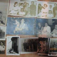 Fotografía antigua: LOTE DE 11 FOTOS ANTIGUAS DE CEUTA PLAYA FIESTAS CALLE. Lote 141668466