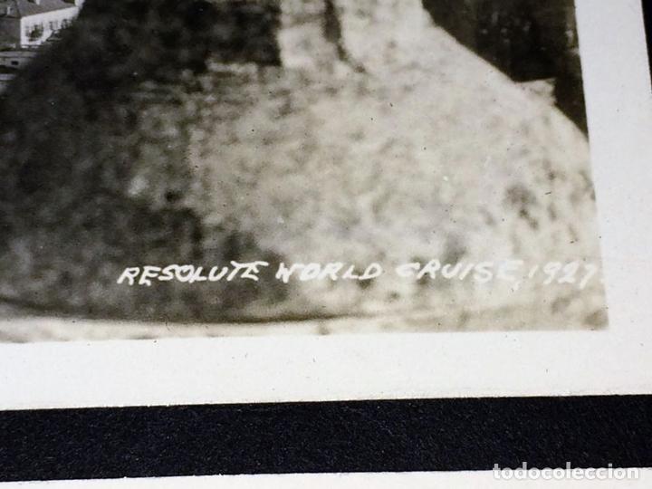 Fotografía antigua: AROUND THE WORLD S.S. RESOLUTE 1927. ALBUM FOTOGRÁFICO. 470 IMÁGENES APROX. U.S.A. 1927 - Foto 7 - 141910898