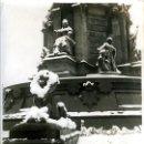 Fotografía antigua: NIEVE EN BARCELONA. 1933. UN DETALLE DEL MONUMENTO A COLÓN. FOTÓGRAFO J. GASPAR. MEDIDAS 24X18 CM.. Lote 141943770