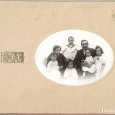 Fotografía antigua: 212- EXTRAORDINADIA FOTOGRAFIA ANTIGUA DE - FAMILIA Y 5 HIJOS - FOTO-CALVET -PRINCIPE- MADRID- 1922. Lote 142338566
