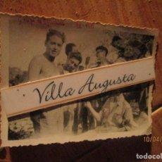 Fotografía antigua: GRUPO OFICIALES LEGION EN CAMPAMENTO AVANCE EN CATALUÑA SEGRE IX 1938 GUERRA CIVIL. Lote 142348438