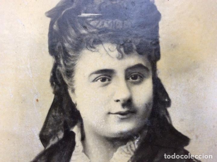 Fotografía antigua: Fotografia de clotilde zubia Alí casada con Dionisio del cacho san Miguel.40cmx29cm. - Foto 2 - 142967202