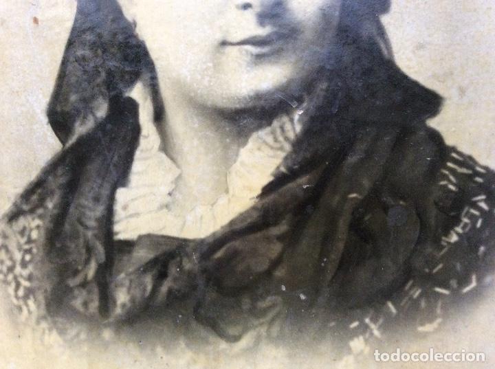 Fotografía antigua: Fotografia de clotilde zubia Alí casada con Dionisio del cacho san Miguel.40cmx29cm. - Foto 3 - 142967202