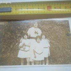 Fotografía antigua: DIASPORA VASCA FOTO NIÑAS Y MUJER DE ORIGEN VASCO MÉXICO. SOBRE 1920 EUSKAL ETXEA. Lote 143572386