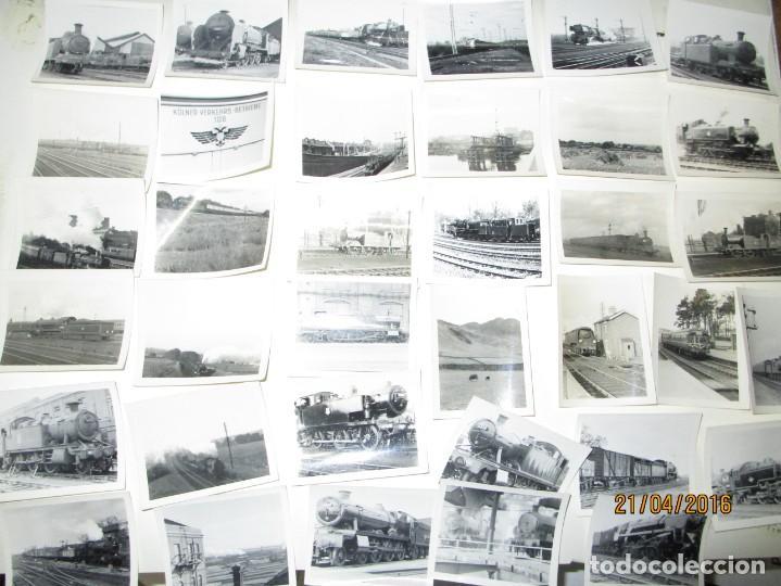 Fotografía antigua: LOTE FOTOS de album ANTIGUO DE TRENES ALEMANES EN GUERRA ESTACION GUERRA MUNDIAL ALEMANA - Foto 14 - 143710398