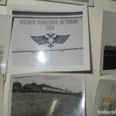 Fotografía antigua: LOTE FOTOS DE ALBUM ANTIGUO DE TRENES ALEMANES EN GUERRA ESTACION GUERRA MUNDIAL ALEMANA. Lote 143710398