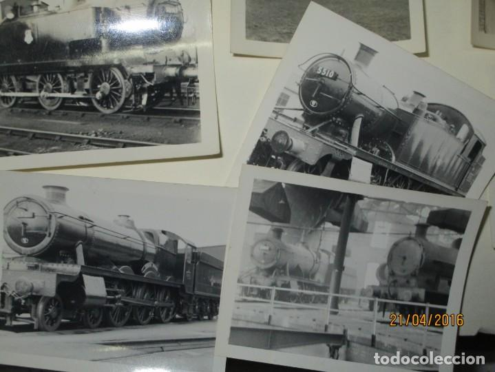 Fotografía antigua: LOTE FOTOS de album ANTIGUO DE TRENES ALEMANES EN GUERRA ESTACION GUERRA MUNDIAL ALEMANA - Foto 6 - 143710398