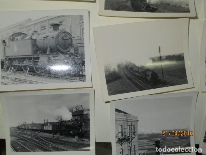 Fotografía antigua: LOTE FOTOS de album ANTIGUO DE TRENES ALEMANES EN GUERRA ESTACION GUERRA MUNDIAL ALEMANA - Foto 2 - 143710398