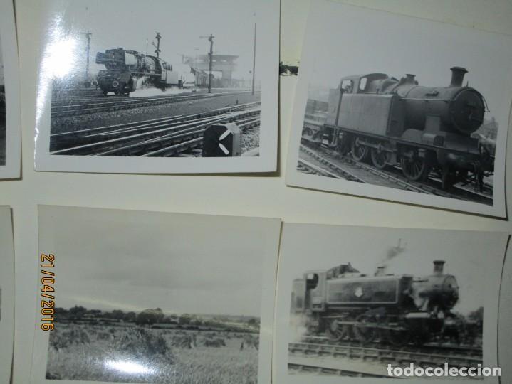 Fotografía antigua: LOTE FOTOS de album ANTIGUO DE TRENES ALEMANES EN GUERRA ESTACION GUERRA MUNDIAL ALEMANA - Foto 3 - 143710398