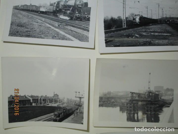Fotografía antigua: LOTE FOTOS de album ANTIGUO DE TRENES ALEMANES EN GUERRA ESTACION GUERRA MUNDIAL ALEMANA - Foto 7 - 143710398