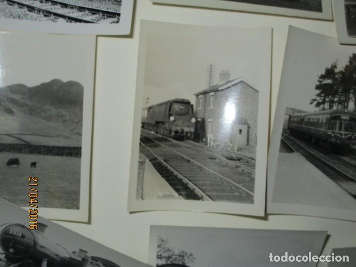 Fotografía antigua: LOTE FOTOS de album ANTIGUO DE TRENES ALEMANES EN GUERRA ESTACION GUERRA MUNDIAL ALEMANA - Foto 8 - 143710398
