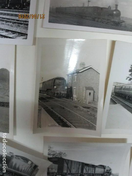 Fotografía antigua: LOTE FOTOS de album ANTIGUO DE TRENES ALEMANES EN GUERRA ESTACION GUERRA MUNDIAL ALEMANA - Foto 9 - 143710398