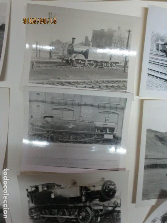 Fotografía antigua: LOTE FOTOS de album ANTIGUO DE TRENES ALEMANES EN GUERRA ESTACION GUERRA MUNDIAL ALEMANA - Foto 10 - 143710398
