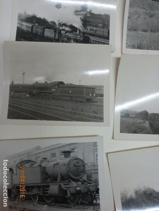 Fotografía antigua: LOTE FOTOS de album ANTIGUO DE TRENES ALEMANES EN GUERRA ESTACION GUERRA MUNDIAL ALEMANA - Foto 11 - 143710398