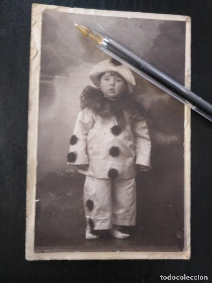 Foto Antigua Retrato Estudio Niño Arlequín Jai Comprar Fotografía