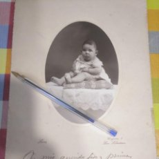 Fotografía antigua: FOTO ANTIGUA RETRATO BEBÉ 1925 KRUZ SAN SEBASTIÁN GIPUZKOA MENDIZÁBAL. Lote 144081190