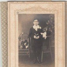 Fotografía antigua: NIÑO EN TRAJE DE PRIMERA COMUNION - PRINCIPIOS SIGLO XX / NEW YORK. Lote 144222382