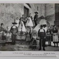 Fotografía antigua: FOTOGRAFIA LAGARTERA - LA BODA SALIENDO DE LA IGLESIA, MEDIDA 11 X 18 CM. Lote 144963970
