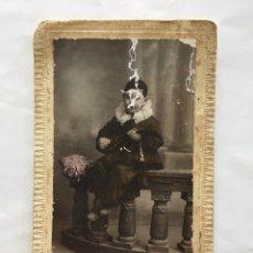 Fotografía antigua: NIÑO ARLEQUÍN. PHOTO-ART DERREY. VALENCIA. H. 1920?. Lote 145721361