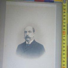 Fotografía antigua: RETRATO CABALLERO EDUARDO PROTA. SIGLO XIX HUERTAS PUERTA DEL SOL MADRID. Lote 145798962