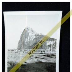 Fotografía antigua: FOTOGRAFÍA PEÑON DE GIBRALTAR DESDE ALGECIRAS. Lote 146099198