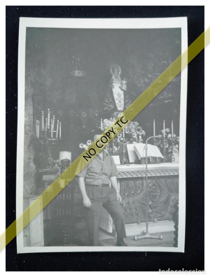 FOTOGRAFÍA ASTURIAS CON LA VIRGEN DE COVADONGA AÑOS 50 60 (Fotografía - Artística)