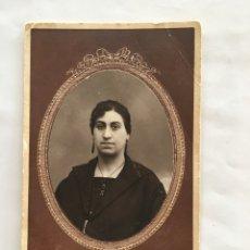 Fotografía antigua: RETRATO DE JOSEFINA. FOTÓGRAFO BELDA. ALBACETE. H. 1935?. Lote 146224356