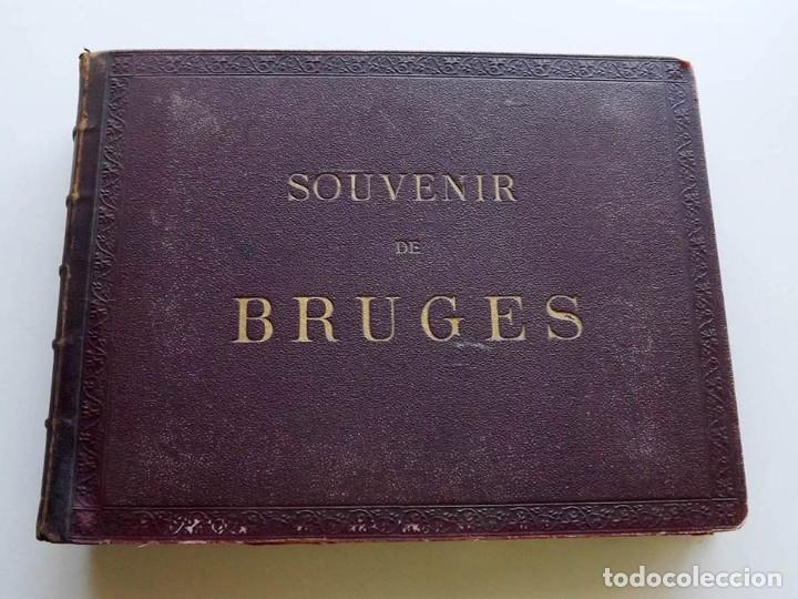 Fotografía antigua: Bruges, espectacular Album de grandes dimensiones con 19 fotografías pintadas, datado hacia 1880 - Foto 2 - 146436826