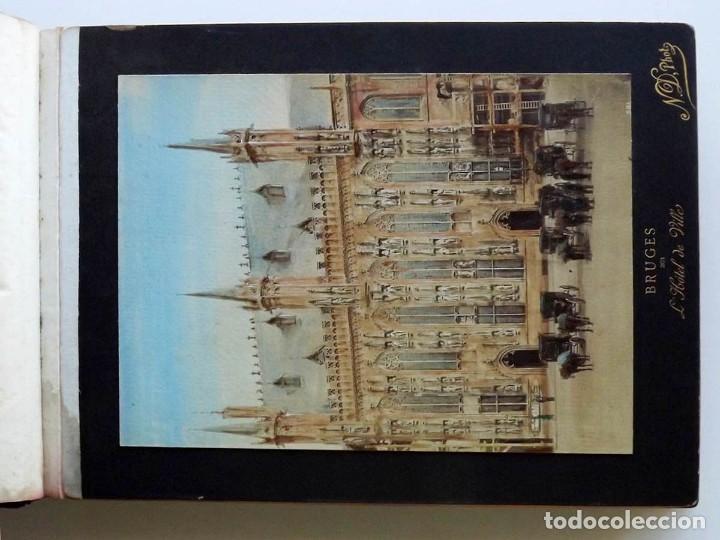 Fotografía antigua: Bruges, espectacular Album de grandes dimensiones con 19 fotografías pintadas, datado hacia 1880 - Foto 4 - 146436826