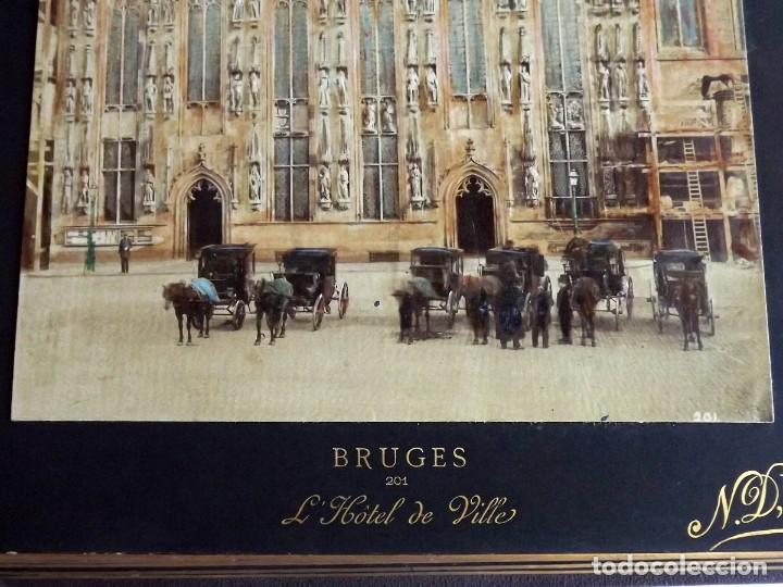 Fotografía antigua: Bruges, espectacular Album de grandes dimensiones con 19 fotografías pintadas, datado hacia 1880 - Foto 5 - 146436826