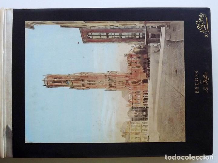 Fotografía antigua: Bruges, espectacular Album de grandes dimensiones con 19 fotografías pintadas, datado hacia 1880 - Foto 6 - 146436826